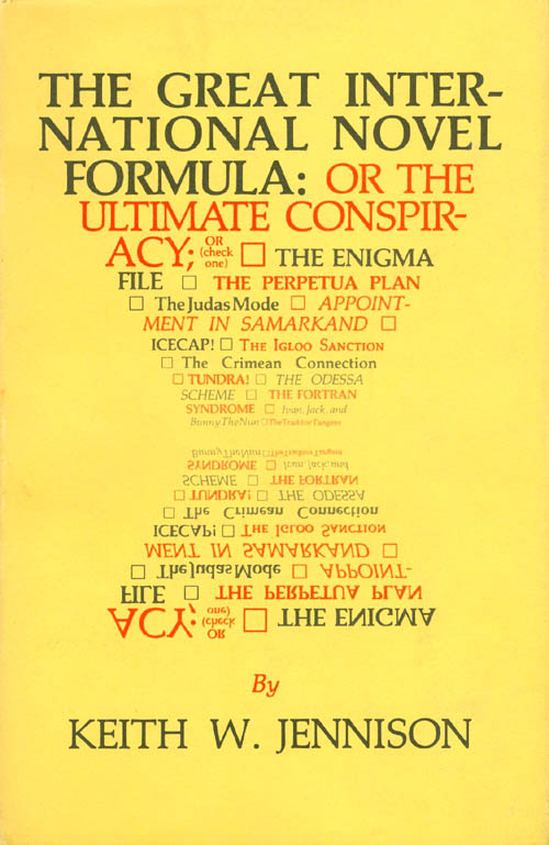 The Great International Novel Formula. Keith Jennison.