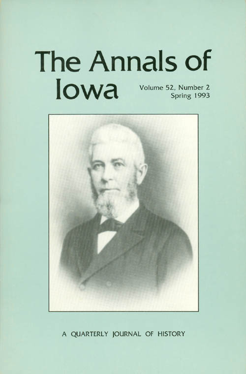 The Annals of Iowa : Volume 52, Number 2 - Spring 1993. Marvin Bergman.