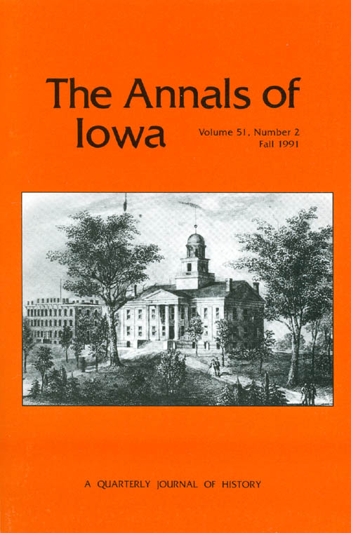 The Annals of Iowa : Volume 51, Number 2 : Fall 1991. Marvin Bergman.