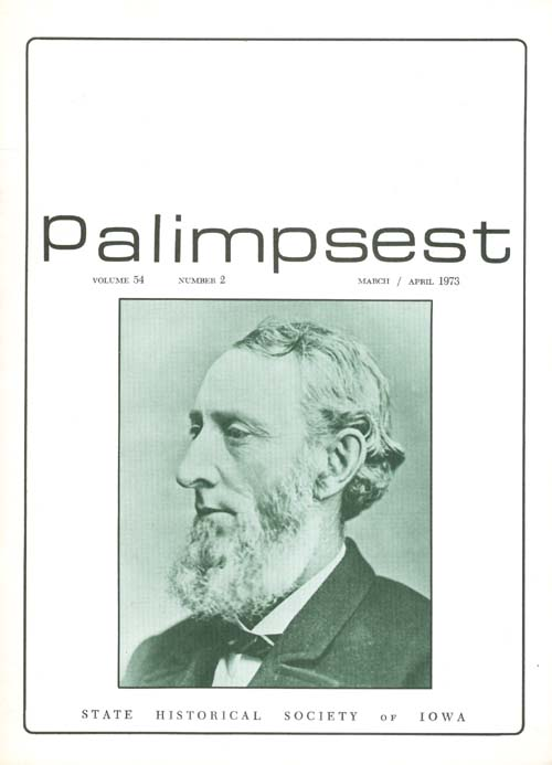 The Palimpsest - Volume 54 Number 2 - March-April 1973. L. Edward Purcell.