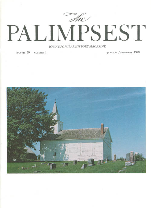 The Palimpsest - Volume 59 Number 1 - January/February 1978. L. Edward Purcell.