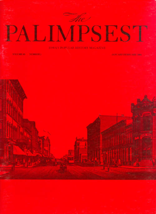 The Palimpsest - Volume 65 Number 1 - January-February 1984. Mary K. Fredericksen.