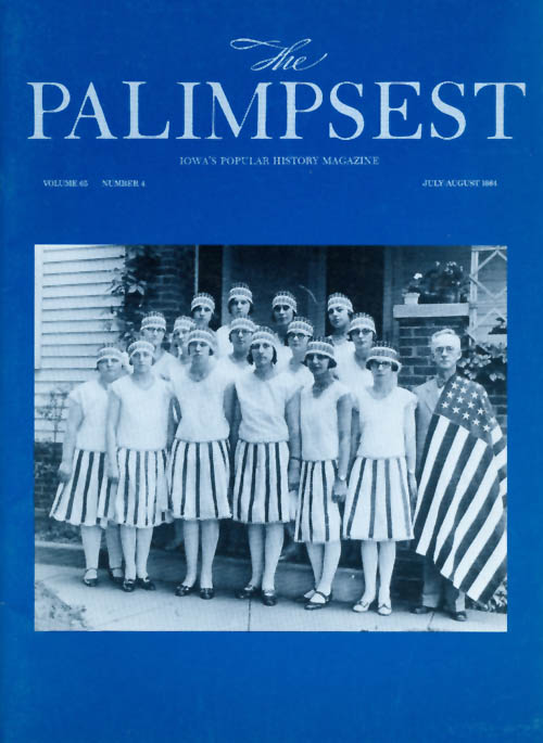 The Palimpsest - Volume 65 Number 4 - July-August 1984. Mary K. Fredericksen.