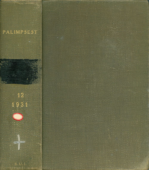 The Palimpsest - Volume XII - January to December 1931. John Ely Briggs.