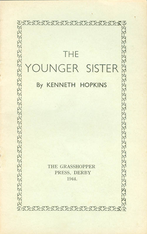The Younger Sister. Kenneth Hopkins.