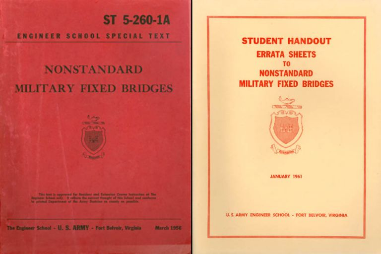 Nonstandard Military Fixed Bridges : ST 5-260-1A - and - Errata Sheets January 1961. Department of the Army.