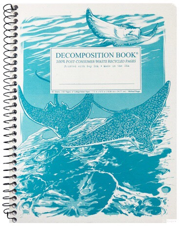 Spotted Eagle Rays (College-ruled notebook)
