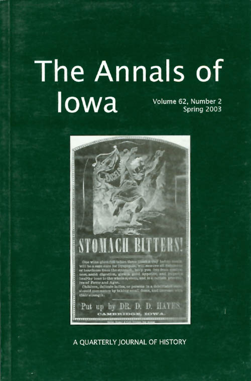 The Annals of Iowa : Volume 62, Number 2 : Spring 2003. Marvin Bergman.