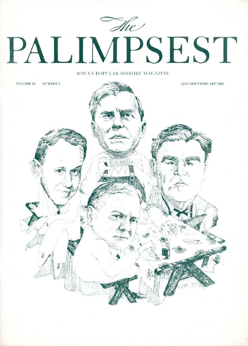 The Palimpsest - Volume 63 Number 1 - January February 1982. William Silag.