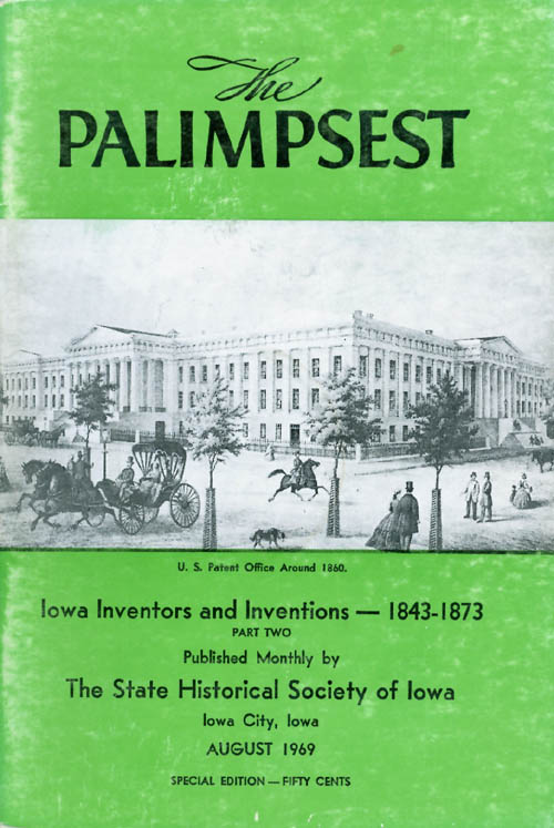 The Palimpsest - Volume 50 Number 8 - August 1969. William J. Petersen.