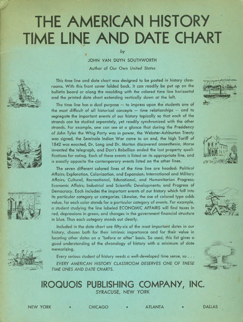 The American History Time Line and Date Chart. John Van Duyn Southworth.