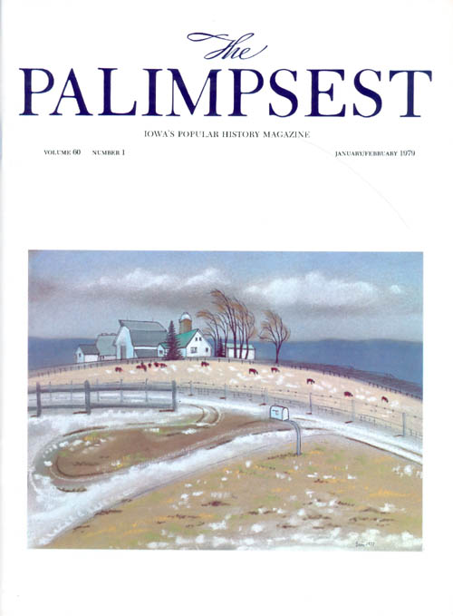 The Palimpsest - Volume 60 Number 1 - January/February 1979. Charles Phillips.