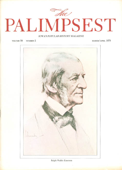 The Palimpsest - Volume 59 Number 2 - March/April 1978. Charles Phillips.