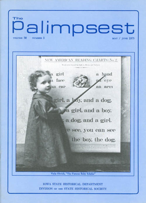 The Palimpsest - Volume 56 Number 3 - May/June 1975. L. Edward Purcell.