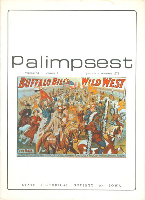 The Palimpsest - Volume 54 Number 1 - January/February 1973. Peter T. Harstad, L. Edward Purcell.