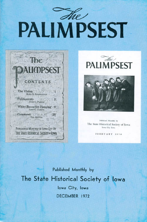 The Palimpsest - Volume 53 Number 12 - December 1972. Peter T. Harstad, L. Edward Purcell.
