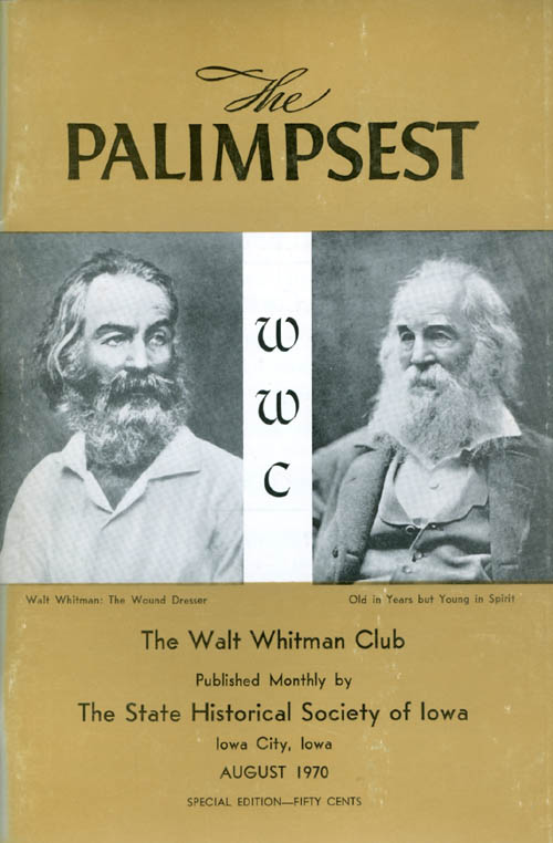 The Palimpsest - Volume 51 Number 8 - August 1970. William J. Petersen.