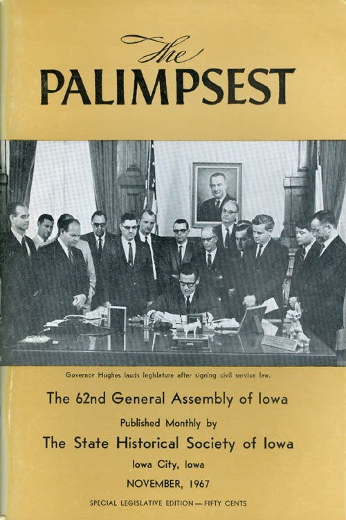 The Palimpsest - Volume 48 Number 11 - November 1967. William J. Petersen.