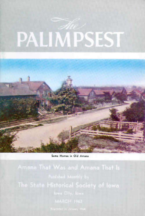 The Palimpsest - Volume 44 Number 3 - March 1963. William J. Petersen.