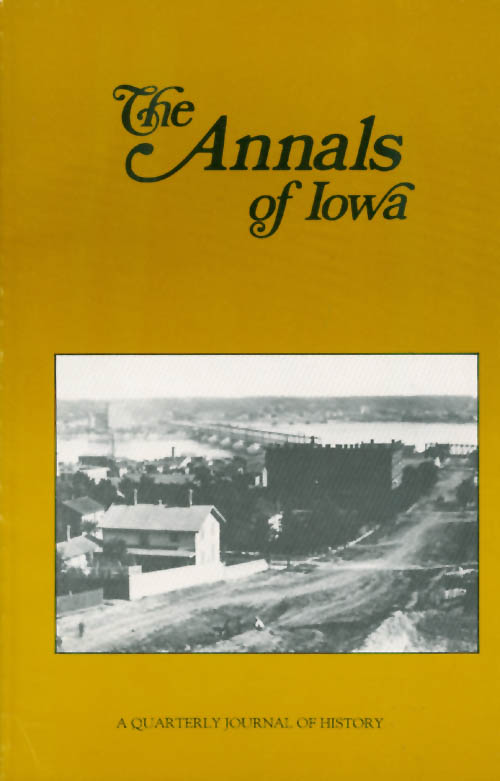 The Annals of Iowa : Volume 49, Number 6: Fall 1988. Marvin Bergman.