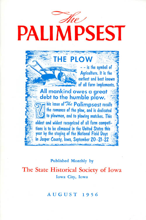 The Palimpsest - Volume 37 Number 8 - August 1956. William J. Petersen.