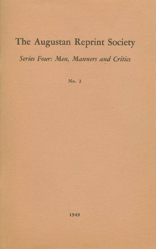 "Series Four: Men, Manners and Critics, No. 2: ""Of Genius"", in The Occasional Paper, Volume III, Number 10 (1719) and Preface to The Creation (1720). Aaron Anonymous and Hill, Gretchen Graf Pahl, Anonymous, Aaron Hill, Introduction."