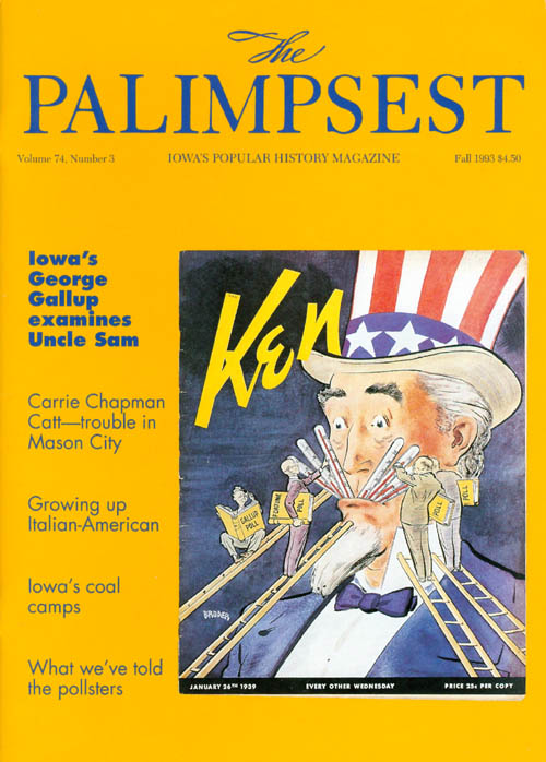 The Palimpsest - Volume 74 Number 3 - Fall 1993. Ginalie Swaim.