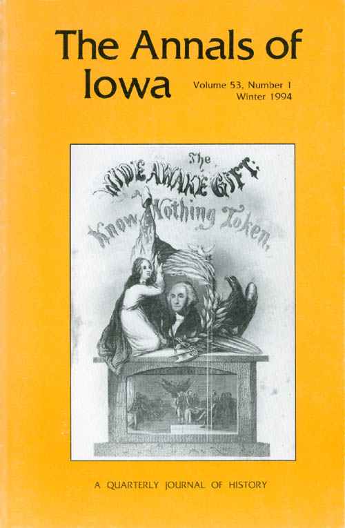 The Annals of Iowa : Volume 53, Number 1 : Winter 1994. Marvin Bergman.