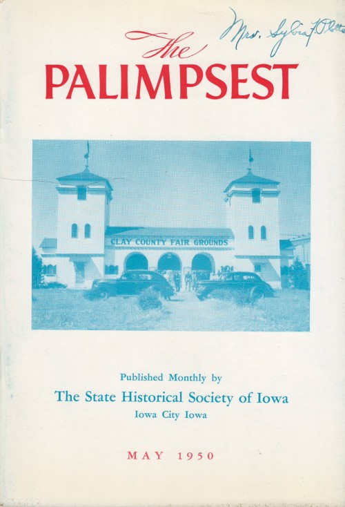 The Palimpsest - Volume 31 Number 5 - May 1950. William J. Petersen.