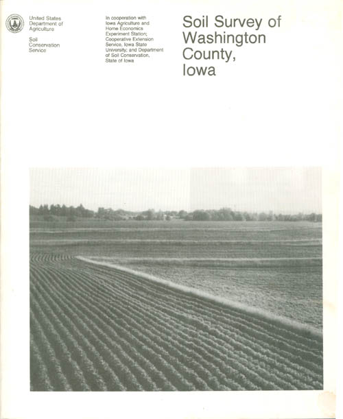 Soil Survey of Washington County, Iowa. United States Department of Agriculture.