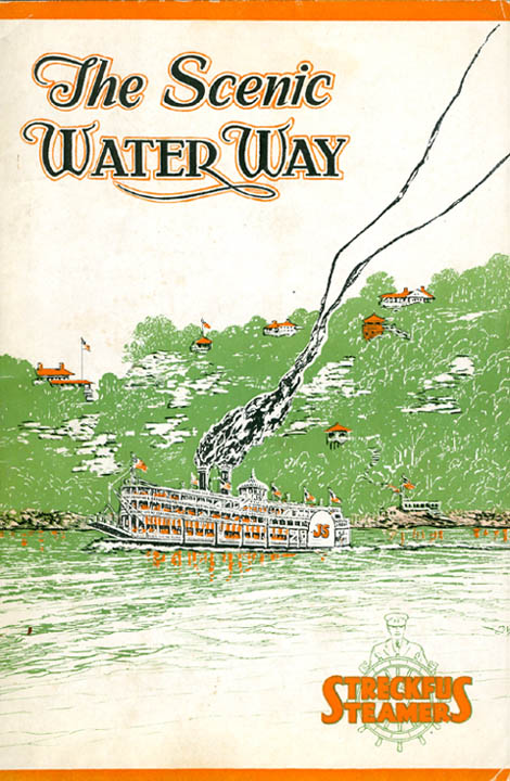 The Scenic Waterway (Streckfus Line Magazine, Vol. VI, No. I; Season, 1928-29).