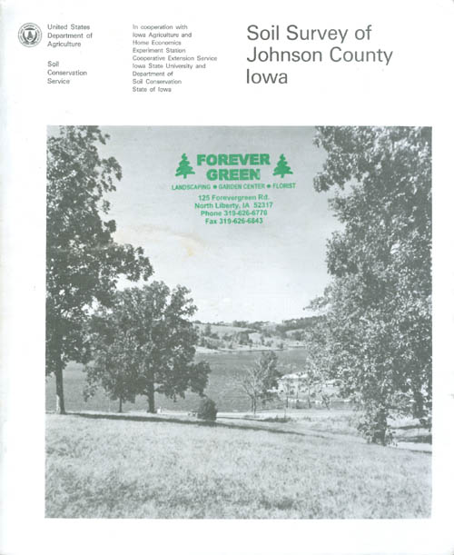 Soil Survey of Johnson County, Iowa. United States Department of Agriculture.