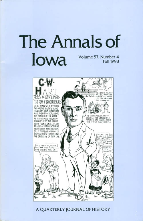 The Annals of Iowa : Volume 57, Number 4: Fall 1998. Marvin Bergman.