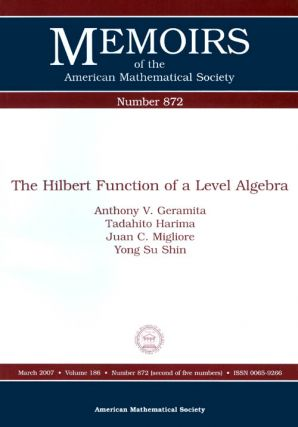 The Hilbert Function of a Level Algebra (Memoirs of the American Mathematical Society Number...