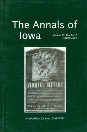 The Annals of Iowa : Volume 62, Number 2 : Spring 2003. Marvin Bergman