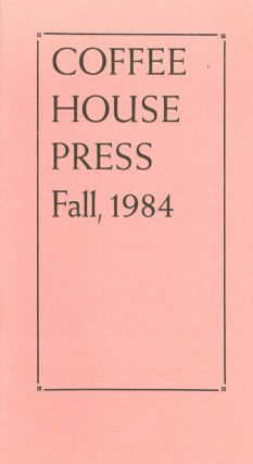 Coffee House Press Fall, 1984. Allan Kornblum, Cinda Kornblum