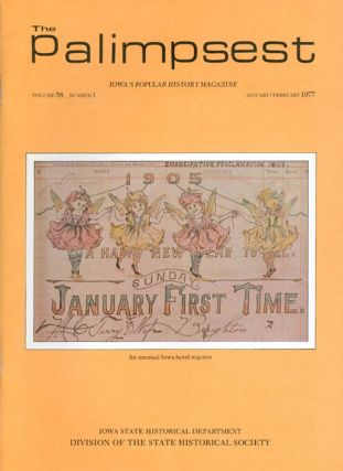 The Palimpsest - Volume 58 Number 1 - January/February 1977. L. Edward Purcell