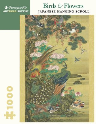 Birds & Flowers: Japanese Hanging Scroll