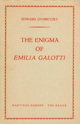 The Enigma of Emilia Galotti. Edward Dvoretzky
