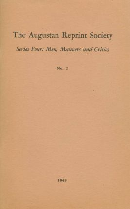 "Series Four: Men, Manners and Critics, No. 2: ""Of Genius"", in The Occasional Paper, Volume III,..."