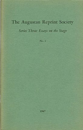 Series Three: Essays on the Stage, No. 2: Representation of the Impiety and Immorality of the...