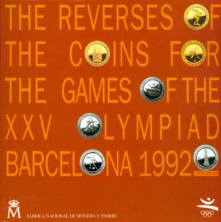 The Reverses of the Coins for the Games of the XXV Olympiad, Barcelona, 1992 - First Series. M....