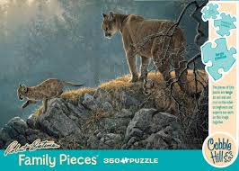 Excursion - Cougar and Kits. Robert Bateman