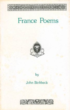France Poems. John Birkbeck