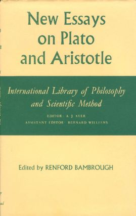 New Essays on Plato and Aristotle (International Library of Philosophy and Scientific Method)....