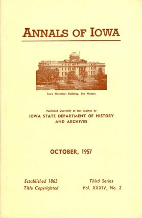 Annals of Iowa: Third Series - Volume 34, Number 2 - October 1957. Emory H. English