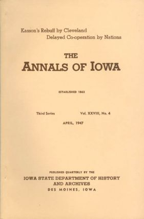 Annals of Iowa: Third Series - Volume 29, Number 1 - July, 1947. Emory H. English