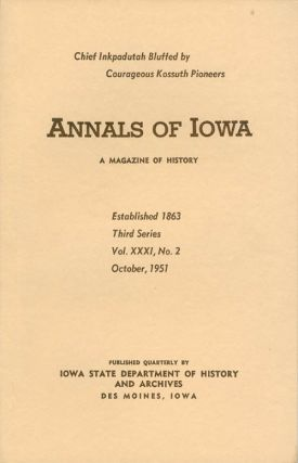 Annals of Iowa: Third Series - Volume 31, Number 2 - October, 1951. Emory H. English