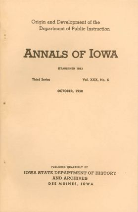Annals of Iowa: Third Series - Volume 30, Number 6 - October, 1950. Emory H. English