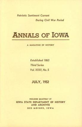 Annals of Iowa: Third Series - Volume 31, Number 5 - July, 1952. Emory H. English